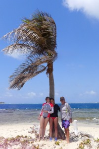 Daphne, Me and Larry on 'one palm'