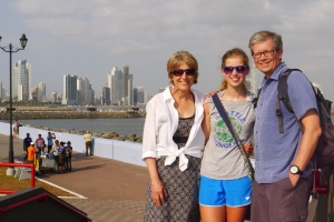 Marykay, Caryn and Scott in Panama