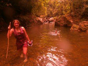 Daphne trekking rio Sidra