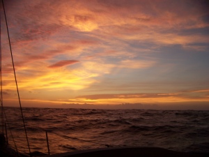 Sunrise on the Caribbean sea